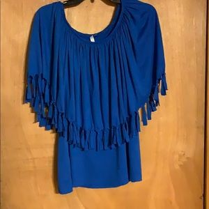 Fringed Cape Style Top